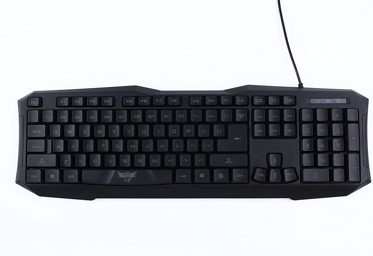 ABS Material Gaming Light-emitting USB Keyboards for Computer PC Black