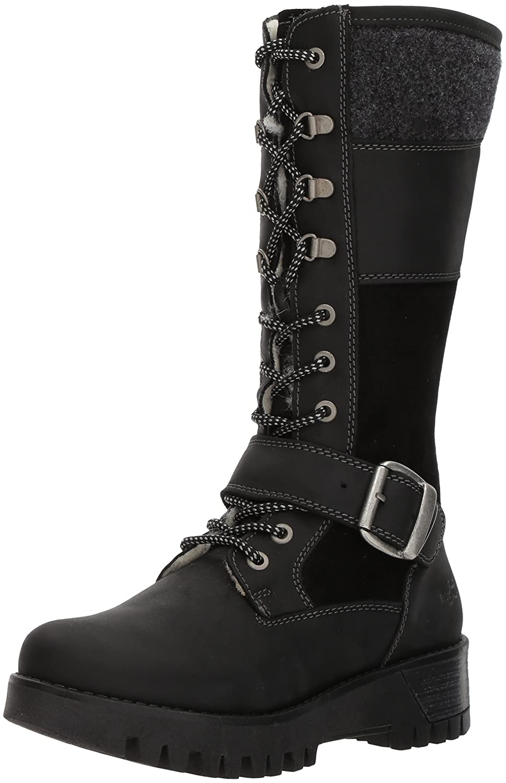 Bos. & Co. Women's Georgi Snow Boot B06X99F7NV 38 M EU (7.5-8 US)|Black Cromagnum/Oil Suede/Boil Wool