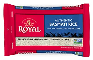 Royal White Basmati Rice, 5 Pound