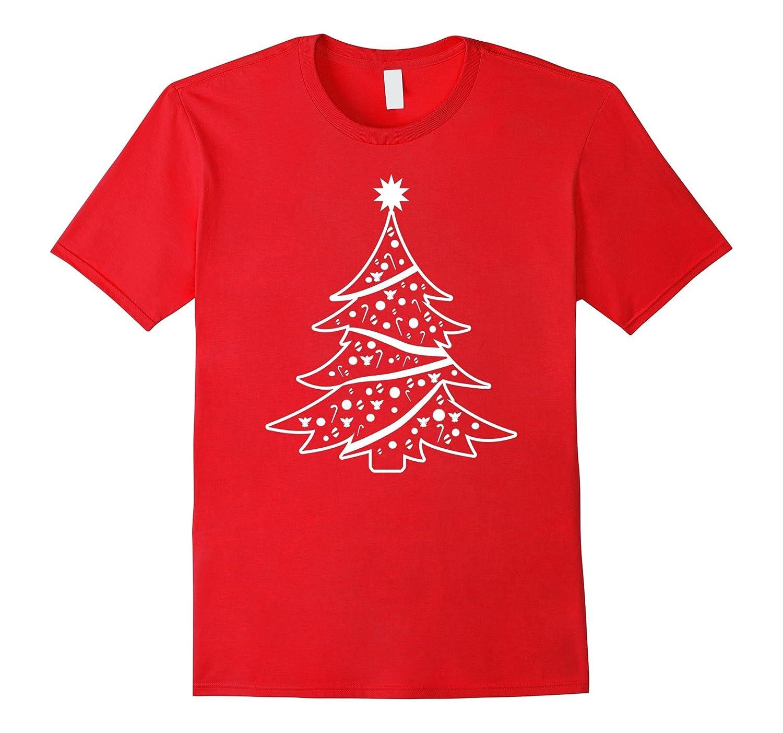 Big White Christmas Tree T-Shirt For Women or Men-ANZ