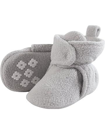 cb321ad63 Hudson Baby Baby Boys' Cozy Fleece Booties with Non Skid Bottom
