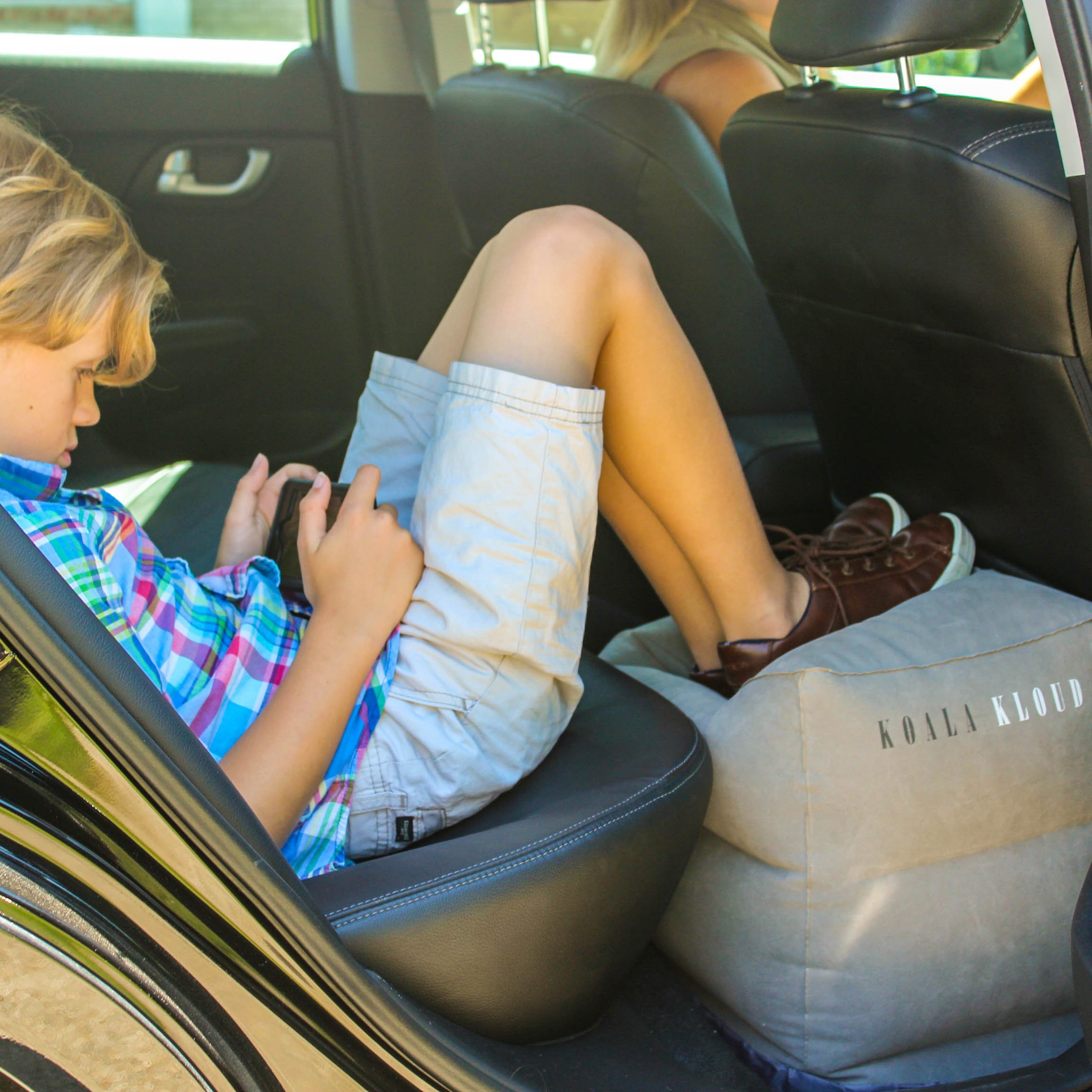 Inflatable Foot Rest Travel Pillow - For Toddlers & Kids, Best Accessory and Gadget for Traveling By Airplane or Car, Use As A Footrest Stool Under Office Desk, Fly With Your Legs Up - By Koala Kloud by Koala Kloud (Image #3)