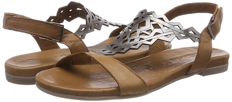 Tamaris 1-1-28126-20 Damen für Sandale, Sandalette, Sommerschuhe für Damen die modebewusste Frau Braun (Nut/Pewter) dc5f90