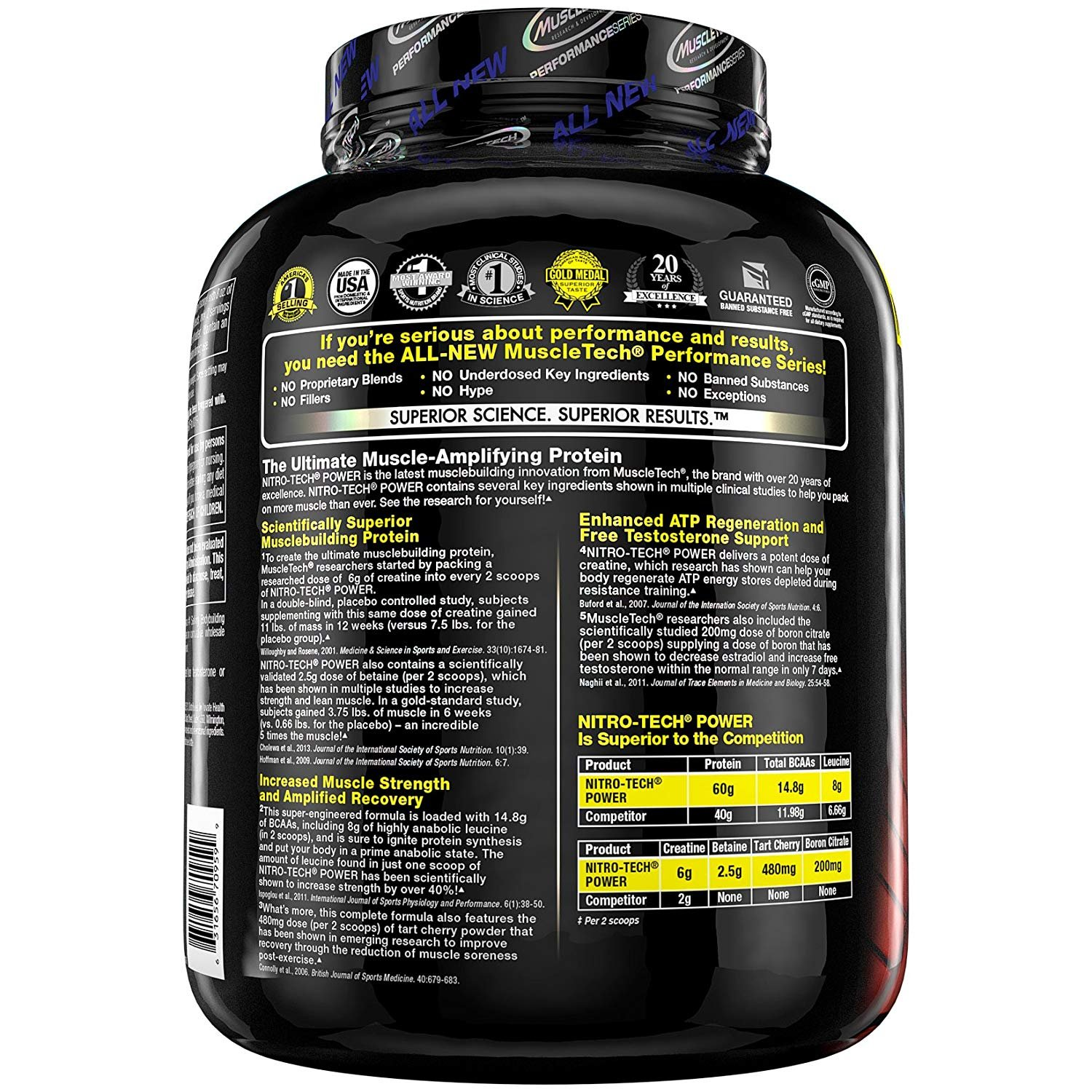 Muscletech Performance Series Nitro-Tech Power French Vanilla Swirl - 1833 gr: Amazon.es: Salud y cuidado personal