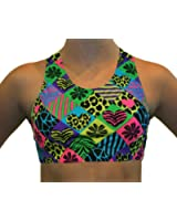 GemGear Checked Out Print Raser Sports Bra