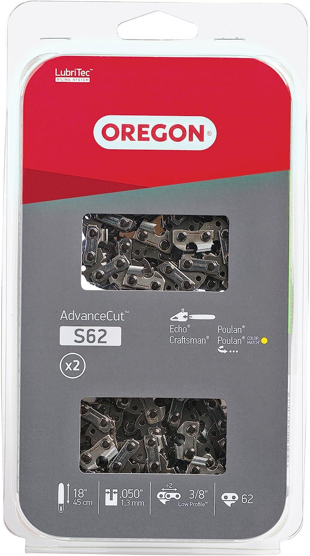 "2 Pack 20/"" Oregon Jonsered 625 630 670 Full Skip Chainsaw 72EXJ072 Chisel Chain"