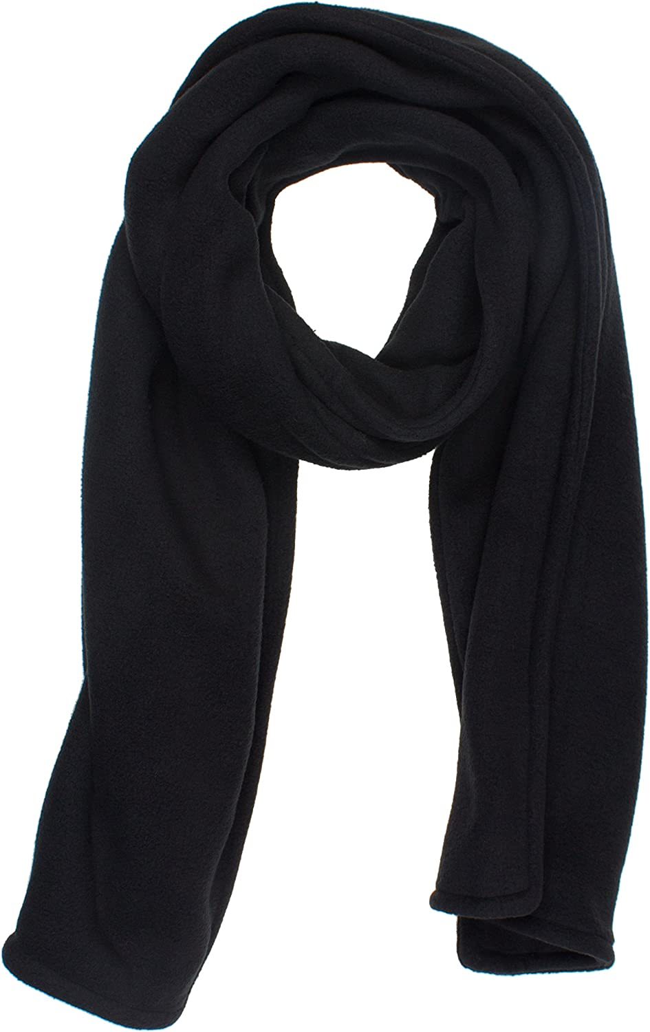 DRY77 Thick Double Layer Long Thermal Soft Fleece Winter Scarf