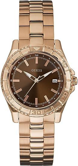 44cf6207c122 Guess Reloj Análogo clásico para Mujer de Cuarzo con Correa en Acero  Inoxidable W0469L1  Amazon.es  Relojes