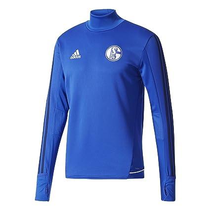 adidas S04 TRG Top Sudadera FC Schalke 04, Hombre, Azul (azufue/azuosc