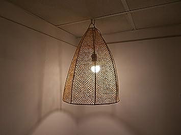 Lámpara marroquí de ratán, lámpara Aplique Farol de Mimbre ...
