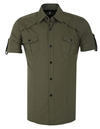 Paul Jones Fashion Designer Dress Shirts Men Stylish Short Sleeve ...