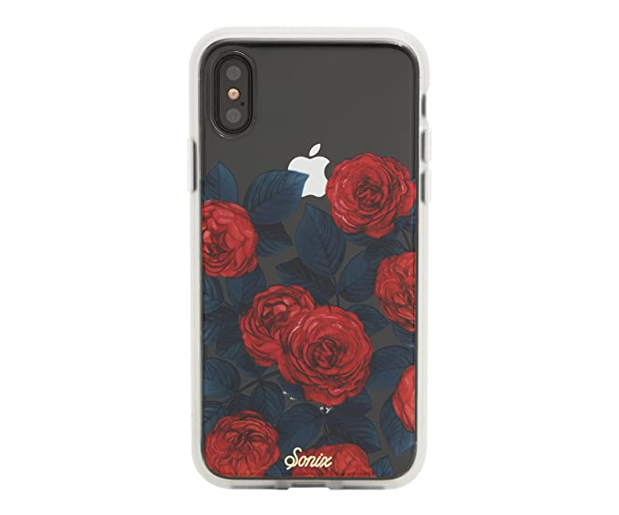 factory price 331a5 3b53e Sonix ROSE GARDEN Cell Phone Case [Military Drop Test Certified] Women's  Protective Clear Case for Apple iPhone X, iPhone XS