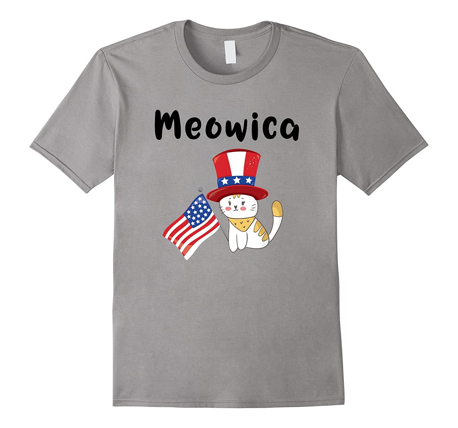 Meowica T-Shirt Cute Adult Kids Teen Fourth of July Shirt-TH