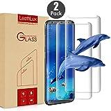 """Leathlux 2 X Pellicola Vetro Temperato Galaxy S8, 3D Piena Copertura Protezione dello Schermo S8 Vetro Temperato [Nessun Bordo sollevato] Pellicola Protettiva in Vetro Temperato per Galaxy S8 5.8"""""""
