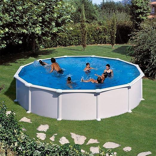 Piscine Rotonde Acciaio Bianco O 350 X 132 Cm Amazon It Giardino E Giardinaggio