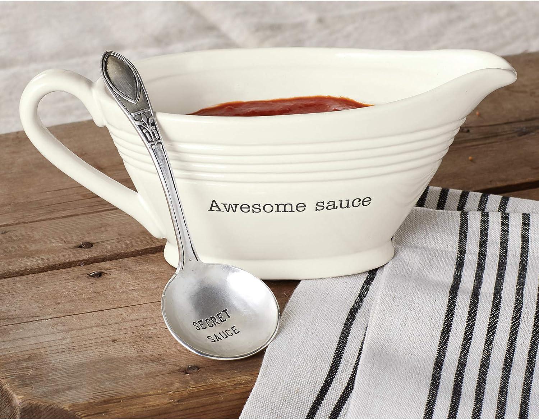 Mud Pie Circa Gravy Boat Awesome Sauce Dish Set
