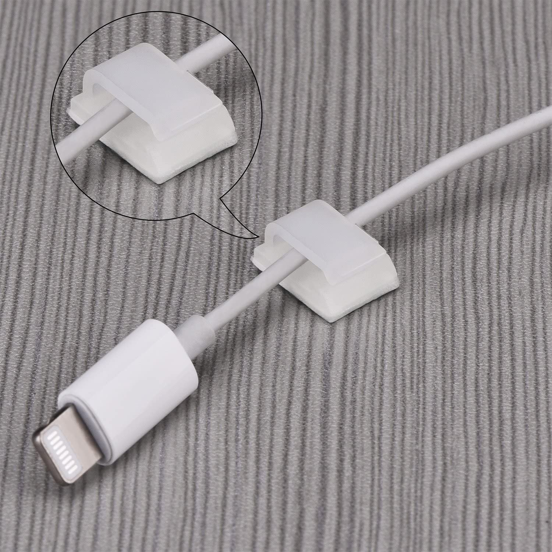 100 Stück Selbstklebende Kabelklemmen Drahtklammern Kabelmanagement Kabelbinder Draht Kabel Halter Weiß Amazon De Bürobedarf Schreibwaren