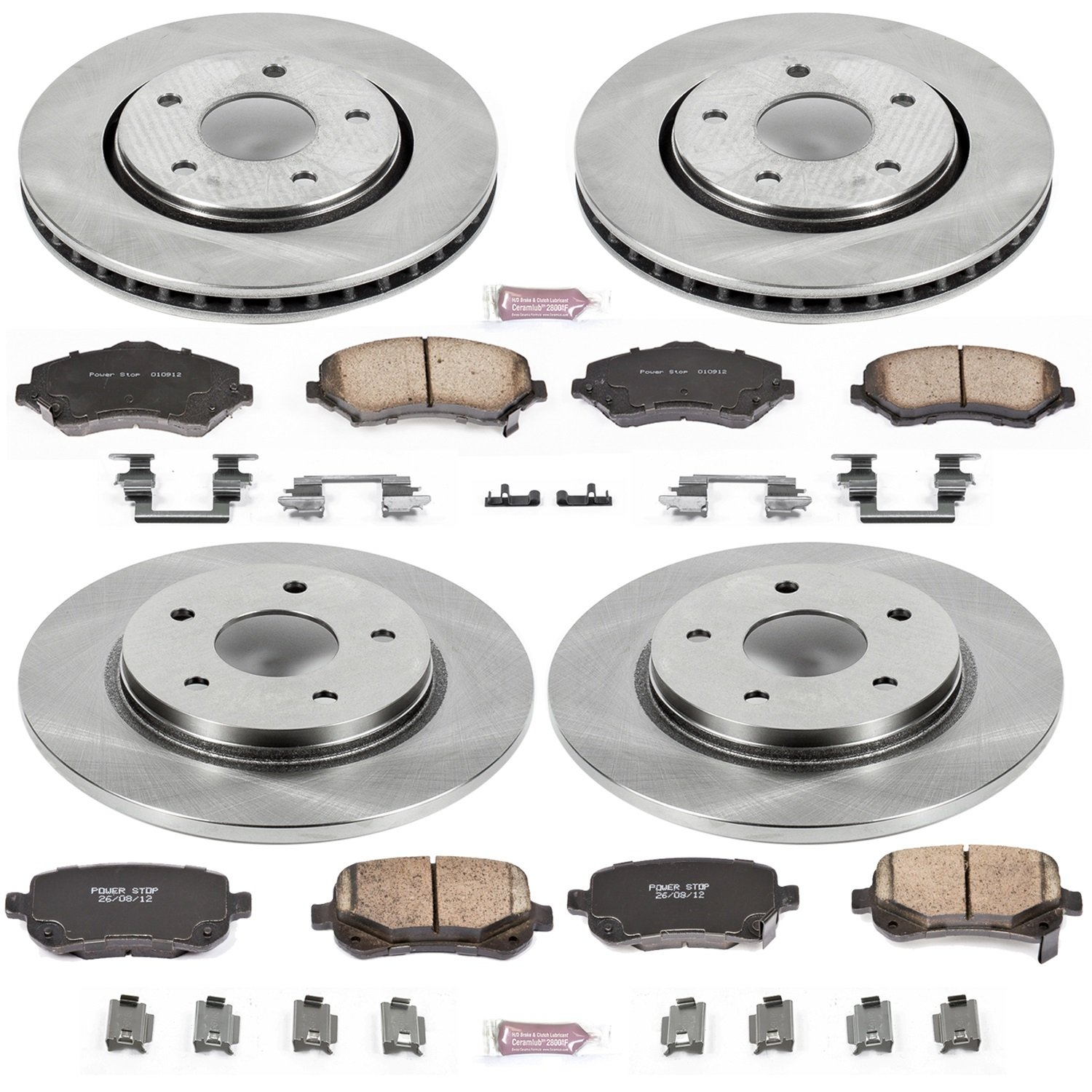 Autospecialty KOE4015 1-Click OE Replacement Brake Kit by POWERSTOP (Image #2)