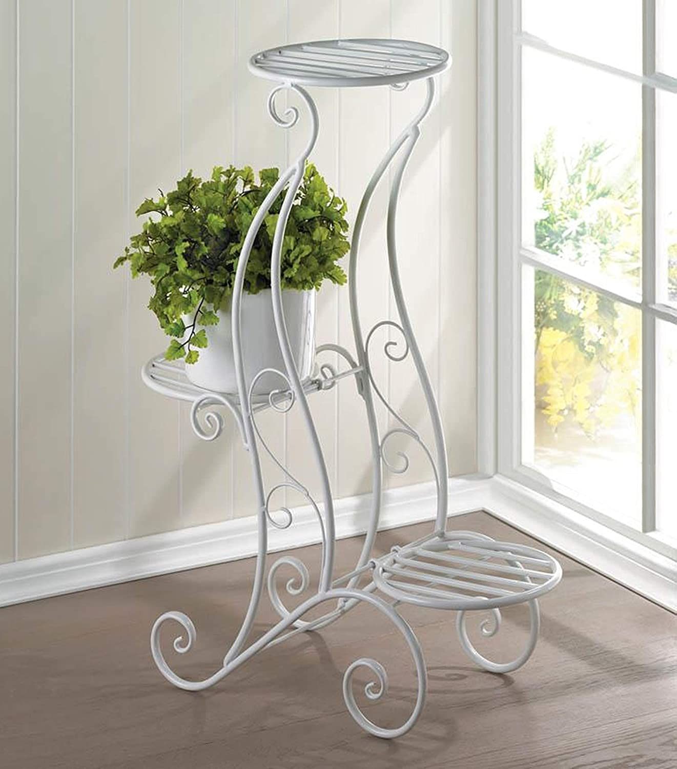 Amazon Com 3 Tiered Plant Stand Three Tier Wrought Iron Plant
