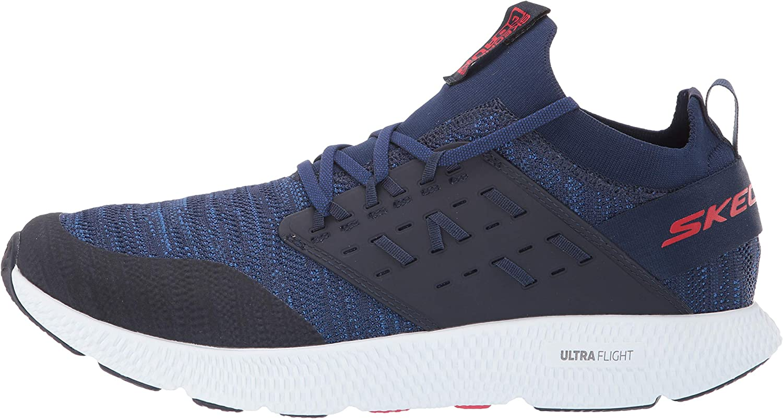 Skechers GO Run STEADY-54888 Baskets pour homme Bleu