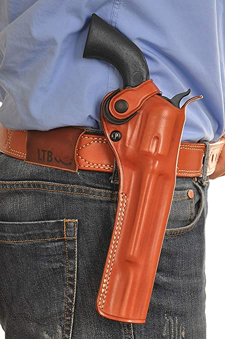 Amazon com : Premium Leather Paddle OWB Revolver Holster with