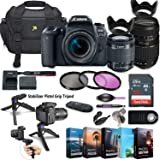 Canon EOS 77D DSLR Camera with 18-55mm Lens + Tamron 70-300mm Zoom Lens + 5 Photo/Video Editing Software Package…