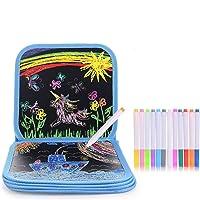 HellDoler Tablero de Dibujo portátil para niños, Tablero de Dibujo de Graffiti ,Libros Blandos de Pizarra 14 páginas,12…