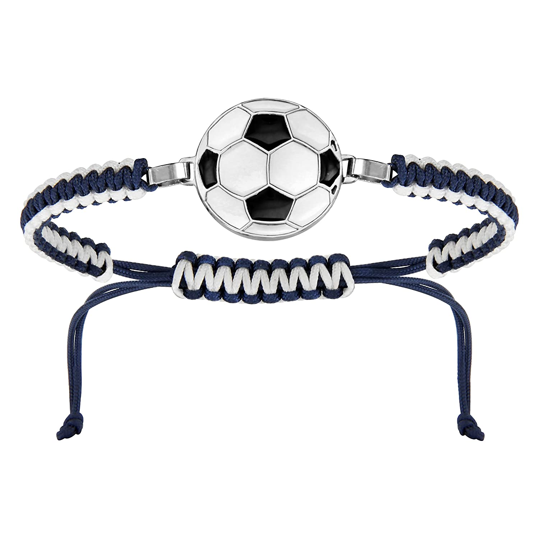 So Chic Joyas© pulsera cordón deslizante Longitud ajustable azul ...