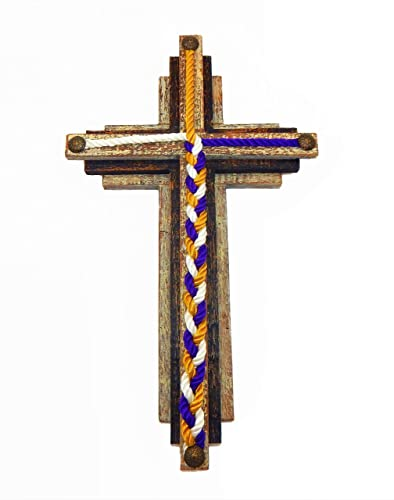 Unity Triple Layered Wood Cross Wedding Cord of Three Strands