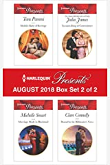 Harlequin Presents August 2018 - Box Set 2 of 2: Sheikh's Baby of Revenge\Marriage Made in Blackmail\Tycoon's Ring of Convenience\Bound by the Billionaire's Vows Kindle Edition