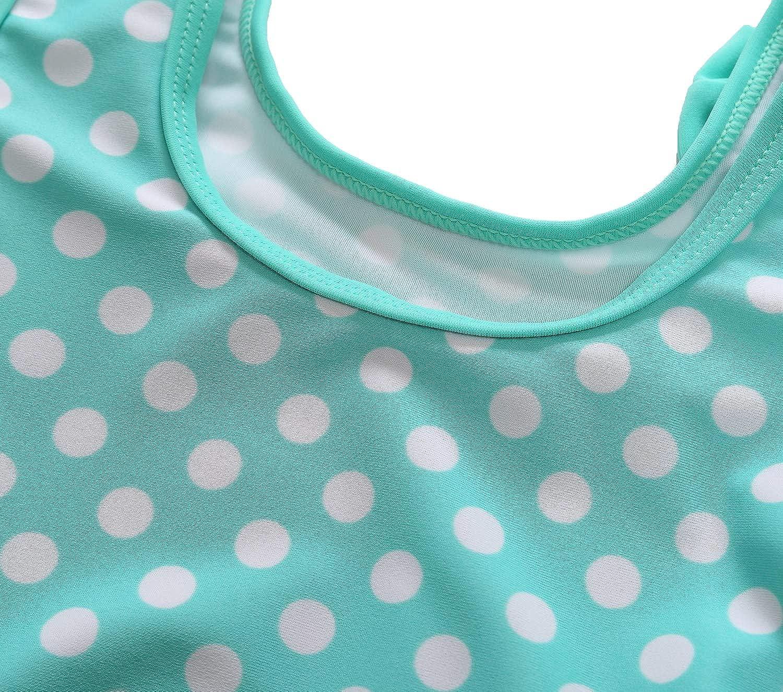 Anwell Baby Girls One Piece Swimsuit Toddler Girl Sleeveless Ruffles Swimwear