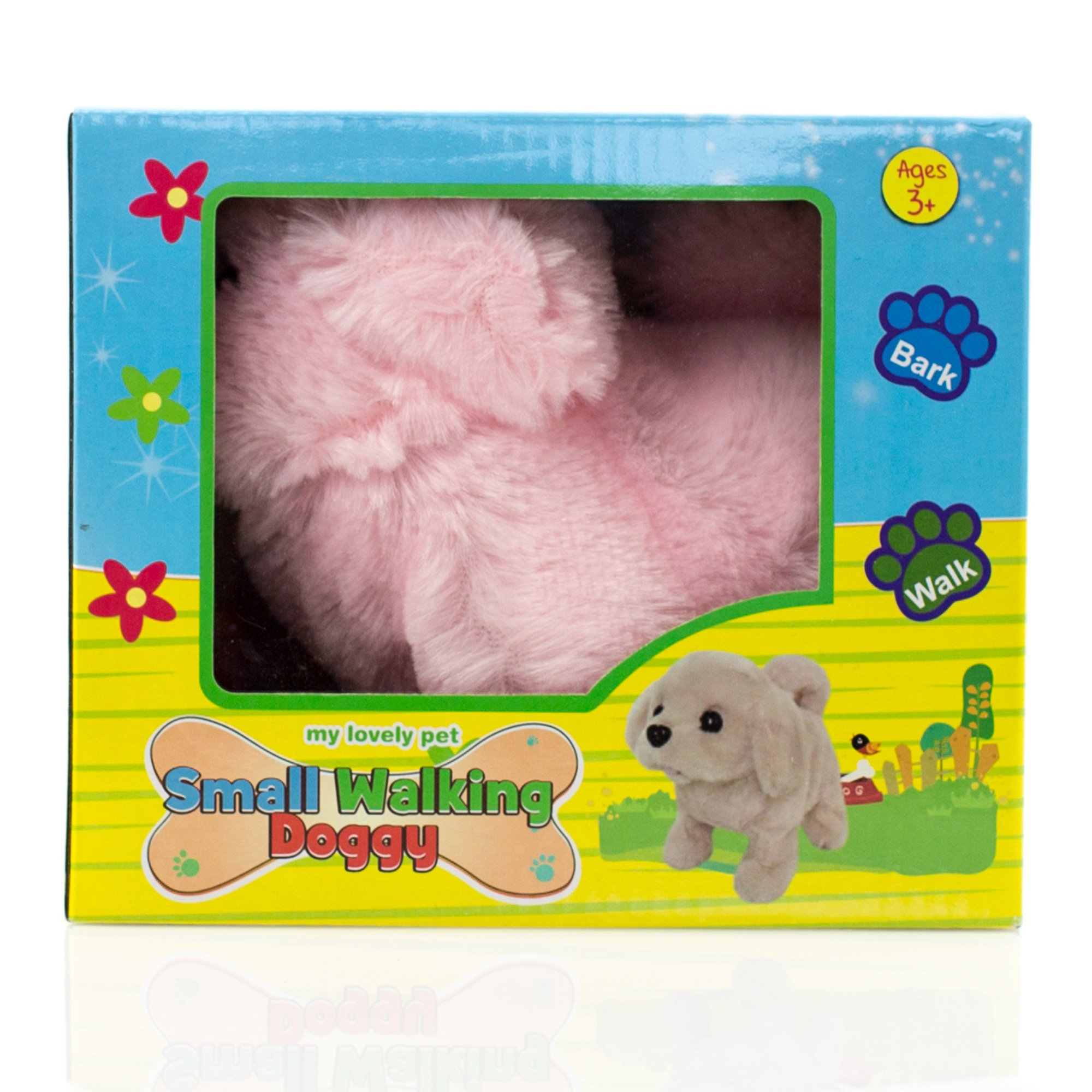 Toysery Puppy Plush Dog Toy for Kids - Puppy Toy, Walks, Barks - Battery Operated (Pink)