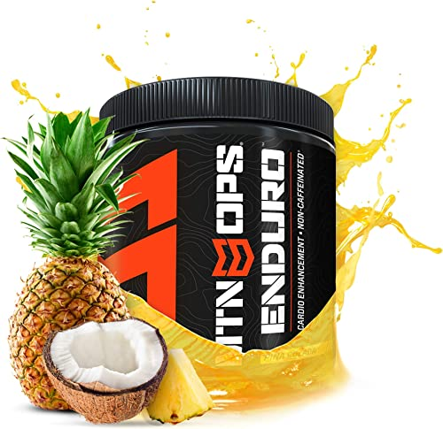 MTN OPS Enduro Cardio Enhancement Non-Caffeinated Energy Drink Mix 30-Serving Bottle, Pina Colada