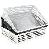 "Kekow File Storage Basket Organizer for Office Supplies, 3-Pack, 13.27"" x 9.84"" x 3.43"""