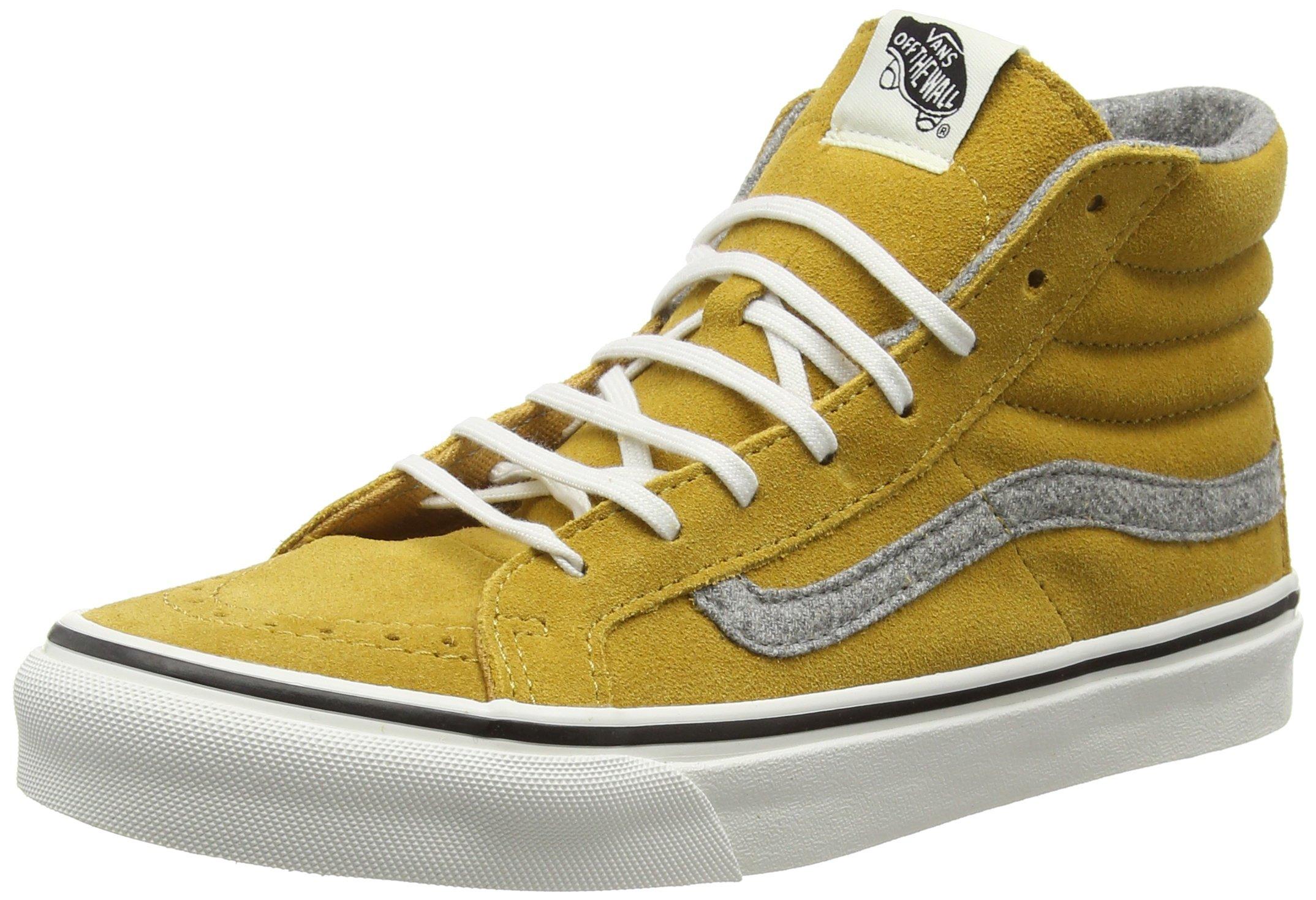 Vans Sk8-Hi Slim, Unisex Adults Hi-Top Sneakers, Yellow (Vintage Suede Amber Gold), 6 UK (39 EU) by Vans