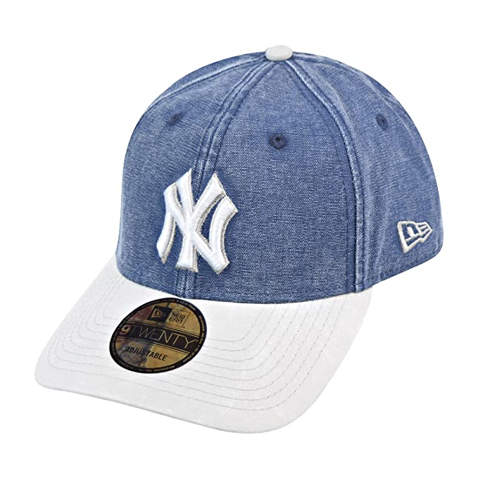 best website cbcac ada0d ... buy new era new york yankees 9twenty mens snapback hat cap denim blue  off white a1f71