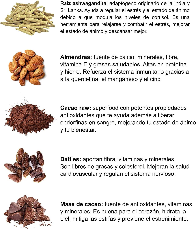 BARRITAS DE PROTEÍNA ANTIESTRÉS Basico Foods Relax. Naturales, Ecológicas, Veganas, Sin Azúcar Añadido. Mejoran El Ánimo, El Rendimiento Y La ...