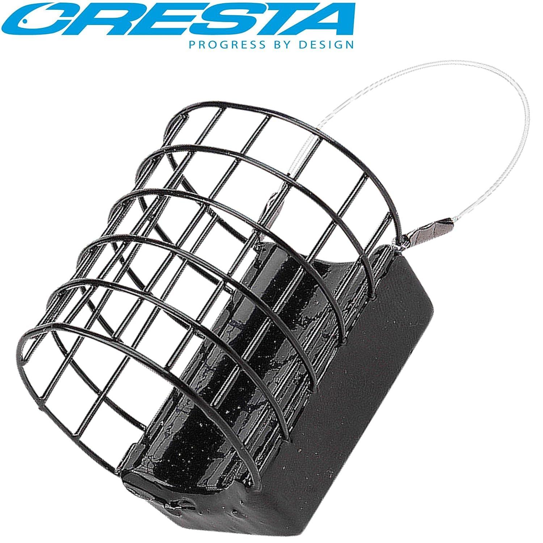 Futterkorb zum Feederangeln auf Friedfisch Brasse /& Karpfen Feederkorb zum Feedern auf Barbe Cresta Cage Feeder XL 3,5x4,2cm
