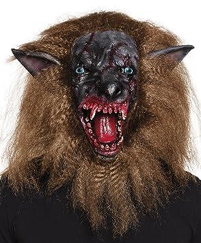 Fasching Fete Disfraz de Halloween máscara de látex blutiger Horror Hombre lobo cabeza con reaparición adultos