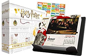 Harry Potter 2021 Calendar, Box Edition Bundle - Deluxe 2021 Harry Potter Day-at-a-Time Box Calendar with Over 100 Calendar Stickers (Harry Potter Gifts, Office Supplies)