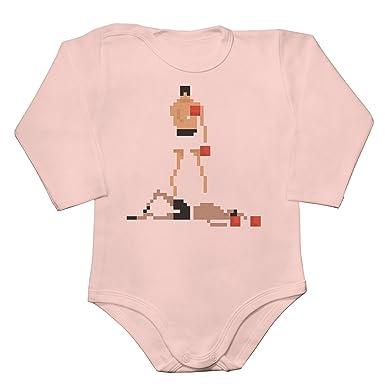 Ko Pixel Art Baby Bodysuit Mameluco Largo De La Manga Del