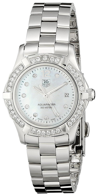 9271317d85a Amazon.com  TAG Heuer Women s WAF1416.BA0824 Aquaracer Swiss-Quartz Diamond  Mother-Of-Pearl Dial  Tag Heuer  Watches