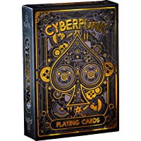 Cyberpunk Gold Playing Cards, Deck of Cards, Premium Card Deck, Cool Poker Cards, Unique Bright Colors for Kids & Adults, Card Decks Games, Standard Size
