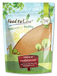 Food to Live Yellow Mustard Seeds (Kosher) (1 Pound) Bags (Pack of 3)