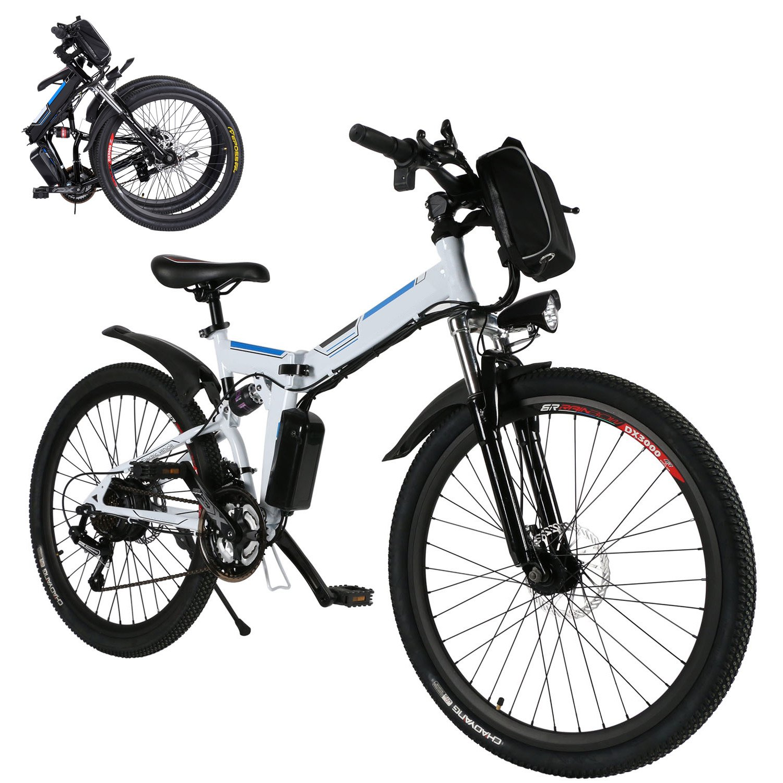 Coorun MTB E-bike, 26 pulgadas S de bicicleta plegable, plegable para bicicletas eléctricas, 36 V 8 Ah 250 WH con gran capacidad batería de litio, ...