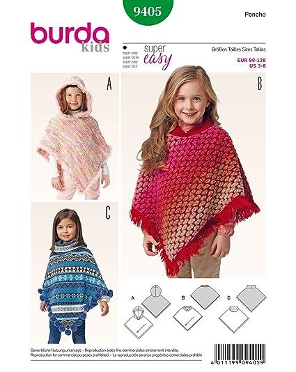 Amazon Burda Childrens Poncho Easy Sewing Pattern 9405 Home