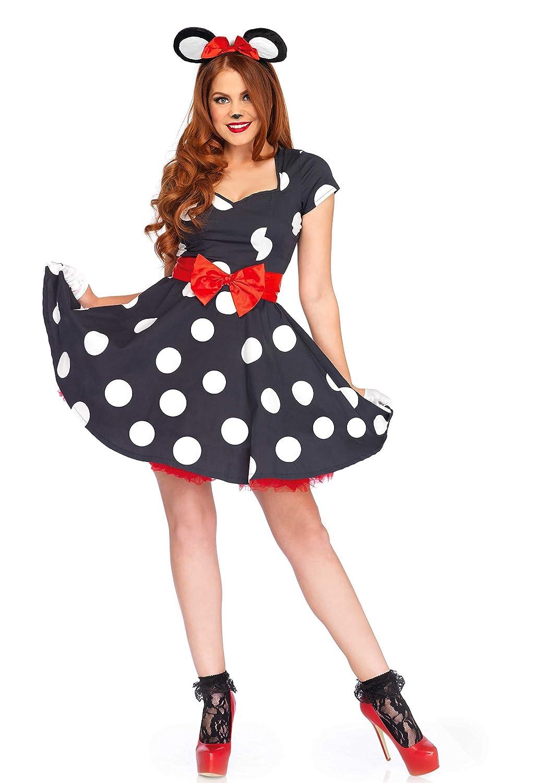 Leg Avenue LO85645 Miss Mouse Kostüm, Schwarz/weiß, Medium (EUR 38/40)