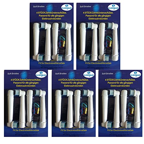Pack de cabezales de repuesto para cepillos de dientes eléctricos Braun Oral -B EB17-