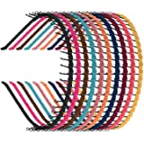 Zhanmai 10 Pieces Unisex Metal Teeth Comb Hair Hoop Hairband Headband Hair Accessories, Multicolor