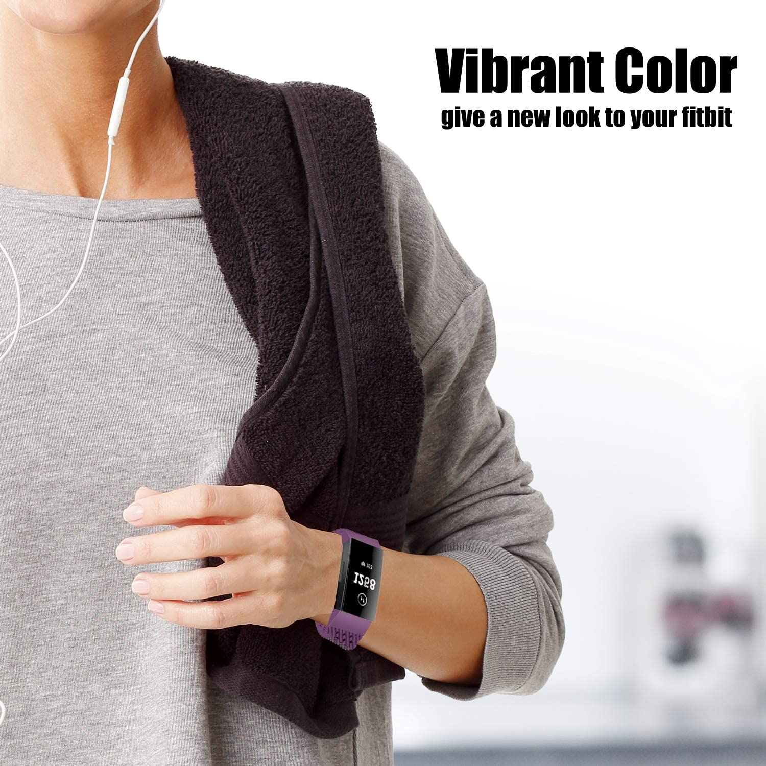Multi-Colors Wristbands 3-Pack WISHTA Compatible with Fitbit Charge 3 /& Charge 3 SE Bands Waterproof Replacement Strap for Women Men
